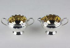 Creamer + Sugar Bowl Primrose Plate Birks Silverplate w Gold Wash Vintage