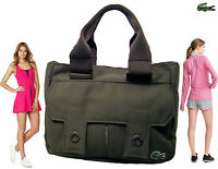 LACOSTE  Ladies Military Style Mini Handbag New Casual  3 Taupe AUTHENTIC