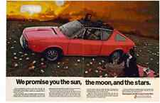 1973 RENAULT GORDINI COUPE CONVERTIBLE  ~  NICE ORIGINAL 2-PAGE PRINT AD