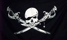 Flagge Pirat Skull XXL mit Schwertern 2,5 x 1,5m Fahne mit Oesen Neu # 280