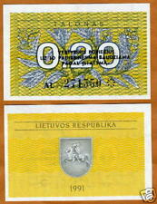 Lithuania, 0.20 Talonas, 1991, First Ex-Ussr, Pick 30, Unc