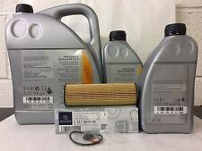 Genuine Mercedes-Benz C-Class C180 C200 Kompressor Oil Filter & Engine Oil OM271