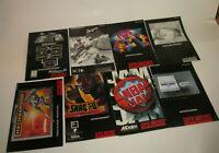 Super Nintendo 8 Instruction Manual Booklet Book Lot SNES