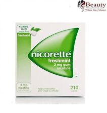 Nicorette Gum 2mg Nicotine Fresh Mint (210 Pieces, 1 Bulk Box) FRESH