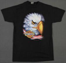 Harley-Davidson Vintage 3D Emblem Eagle American Flag Easyriders T-Shirt Medium