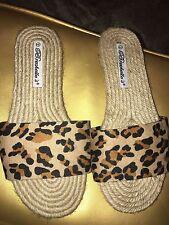Breckelle's Leopard Print Slide Sandals