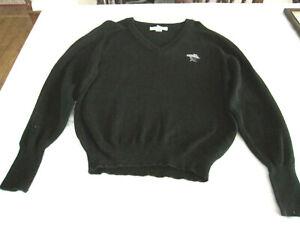 TORREY PINES Logo Womens Black Cotton V-neck IZOD Sweater