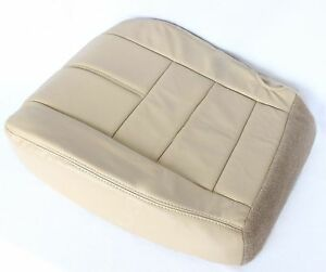 08 09 2010 Ford F250 F350 Driver Bottom Replacement Leather Seat Cover Tan
