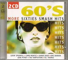 2 CD COMPIL 28 TITRES--60'S SIXTIES HITS--MONTEZ/TEX/TEMPTATIONS/SHIRELLES/SHAW