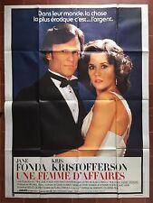 Affiche UNE FEMME D'AFFAIRES Rollover ALAN J. PAKULA Jane Fonda 120x160cm *D