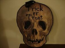 TRICK OR TREAT new large Skull Hanger