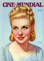 Cine-Mundial Magazine 1939 Gorgeous Ginger Rogers Cover Hollywood Betty Grable