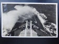 Inter war H.M.S. CHRYSANTHEMUM Showing Forward & 4 Guns Old RP PC by Royal Navy