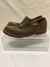 Bass Mens Brown Leather Dress Shoes Sz 9 M DISTRESSED