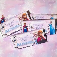 Frozen Theme Personalised Chocolate Wrappers Printable Digital - Print At Home