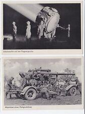 Guerre 39-45 WW2 Propagande ALLEMAGNE WEHRMACHT 2 CARTES FLUGZEUG