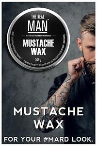 Mustache wax extra-firm men strong hold wax with All Natural ingredients 50g