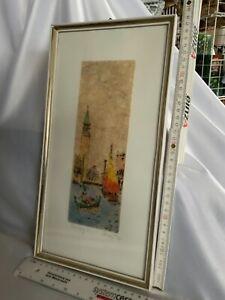 Ze613#Bü# Aus Nachlass 1 wunderschönes Bild gerahmt und signiert