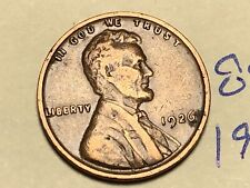 1926 1C BN Lincoln Cent WHEAT PENNY 8911K