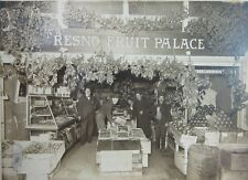 Antique Photo Fruit Palace Fresno CA Redbanks Orchard Tulare County Store c 1910