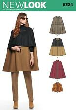 NEW LOOK SEWING PATTERN MISSES' CAPE IN 2 LEGNTHS SIZE XS - XL  6324 N