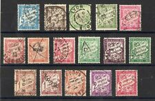 FRANCE: SERIE DE 16 TIMBRES-TAXES OBLITERES N°28/42A Cote: 198,40€