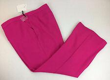 20W Victoria Beckham Pants Womens Bright Pink NWT Flat Front Pockets Wide Leg