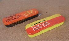 2 x Vintage Puncture Repair Tins Dunlop & Romac empty