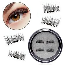 ZENOMICS 4-Piece Single Magnetic Eyelashes-0.2mm Ultra Thin Magnet-Lightweight