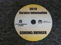 2010 Chrysler Sebring Sedan Convertible Shop Service Repair Manual CD Touring LX