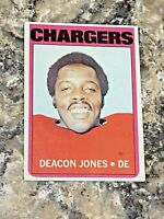 1972 Topps Deacon Jones #209 Los Angeles Chargers HOF NFL Football Card