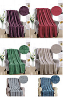 French Collection Luxurious™ Soft Throw Blanket Cover Embossed Ceasar Pattern