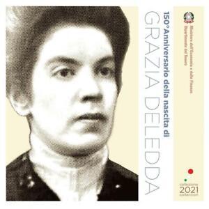 Kursmünzensatz Italien 2021 ST 8,88 Euro inkl. 5 Euro Grazia Deledda BU