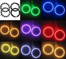 4 pcs Multi-Color 5050 RGB Flashing SMD LED Angel Eyes Halo Rings kit 70MM