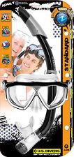 US Divers Adulto Maschera E Boccaglio Set Immersione lo Snorkeling-RRP £ 30-Blu