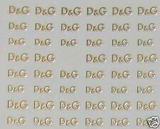 One Stroke Sticker Gold, D&G, Tattoo, Aufkleber  Nr.1529