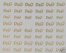 One Stroke Sticker Gold, D&G, Tattoo, Aufkleber  Nr.1529