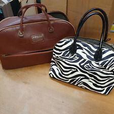 Next Zebra Print Handbag & Vintage Leather Holdall