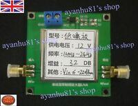 0.01-2000MHz 2Ghz 32dB LNA RF Broadband Low Noise Amplifier Module HF VHF UHF