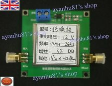 0.01-2000MHz 2Ghz 32dB LNA RF Broadband Low Noise Amplifier Module HF VHF UHF