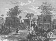 THE REGENT'S PARK. Entrance to the Zoological Gardens in 1840. London c1880