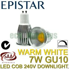 10X LILIANO 7W LED COB GU10 DIMMABLE DOWNLIGHT SPOTLIGHT CEILING WARM WHITE 240V