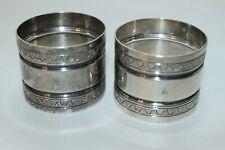 VINTAGE STERLING SILVER NAPKIN RING HOLDER LOT OF 2 INSCRIBED 76.54 GRAMS
