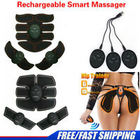 4 In 1 USB Rechare Fitness Abdominal Hip Muscle Trainer ABS Stimulator Toner HOT