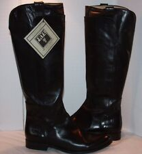 Frye Paige Tall Riding black burnished Antiqued leather boots  women's size 10 m