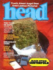 HEAD MONTHLY March 1978 1970s DRUG CULTURE, PSILOCYBIN, BLACK OPIUM, CANNABIS