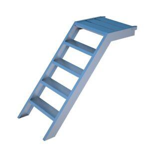 Alu Podesttreppe Aufstieg Balkontreppe Treppe mit 4 Stufen Rux Super 1m