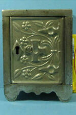 1897 NICKEL / IRON ORNATE SAFE BANK IRON CROSS AUTHENTIC & OLD *ON SALE* CI 505