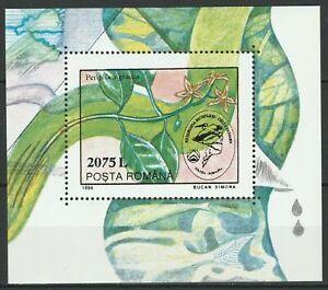 Romania 1994 Flowers MNH Block