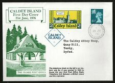 GB Cinderella Caldey Island Wales 1976 Post Office First Day Cover 6p Regional